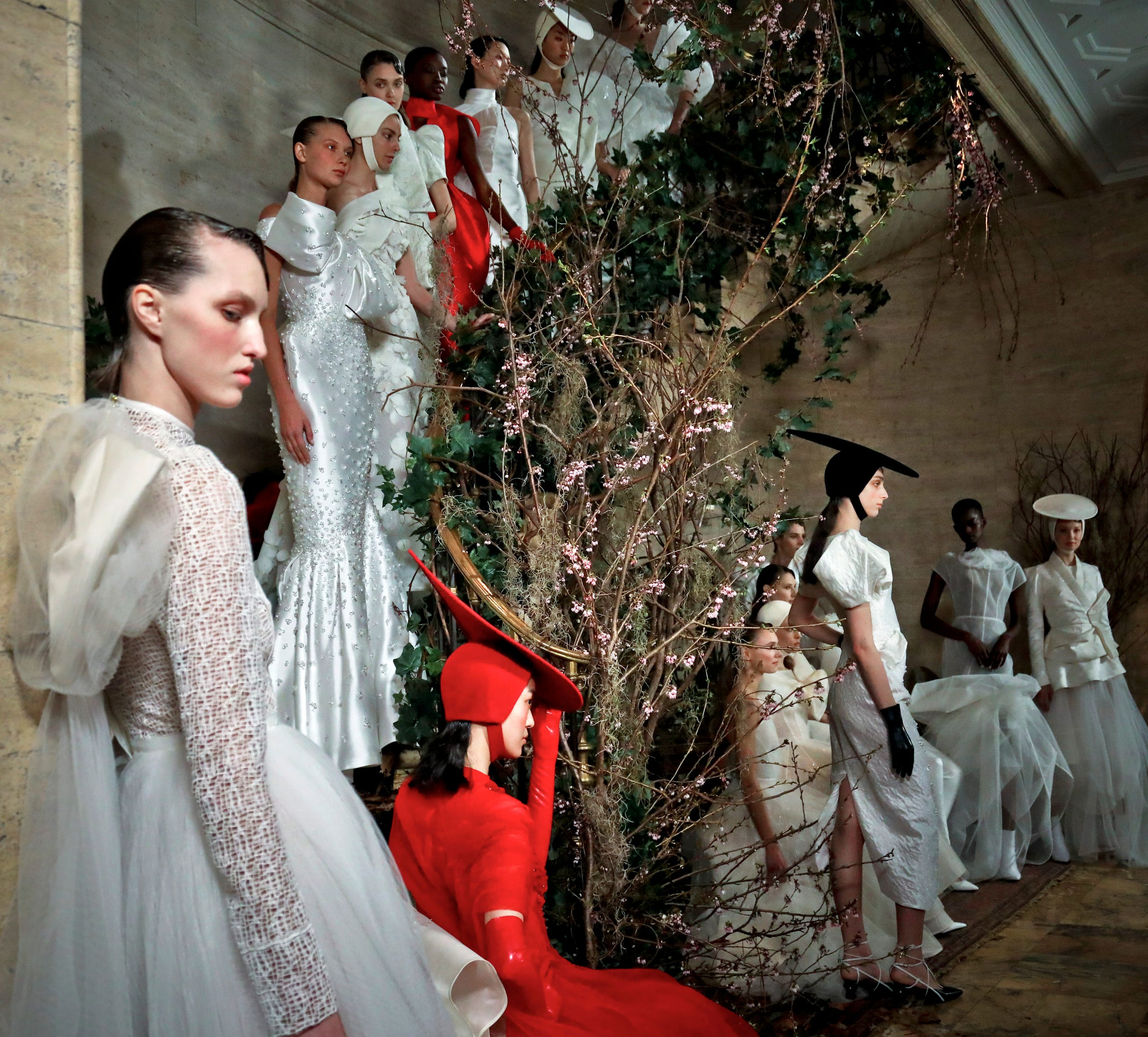 95f2d7fa86 Bridal Fashion Week 2019  The most beautiful and bizarre looks