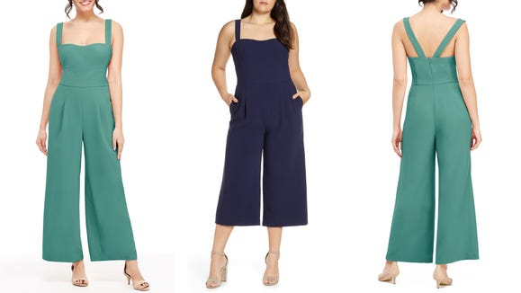 Take the plunge into the jumpsuit life with this adorable option.