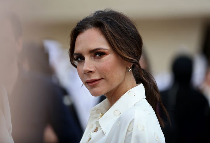British singer and fashion designer Victoria Beckham attends the official opening ceremony for the National Museum of Qatar, in the capital Doha on March 27, 2019. (Photo by KARIM JAAFAR / AFP)KARIM JAAFAR/AFP/Getty Images ORIG FILE ID: AFP_1F48RF