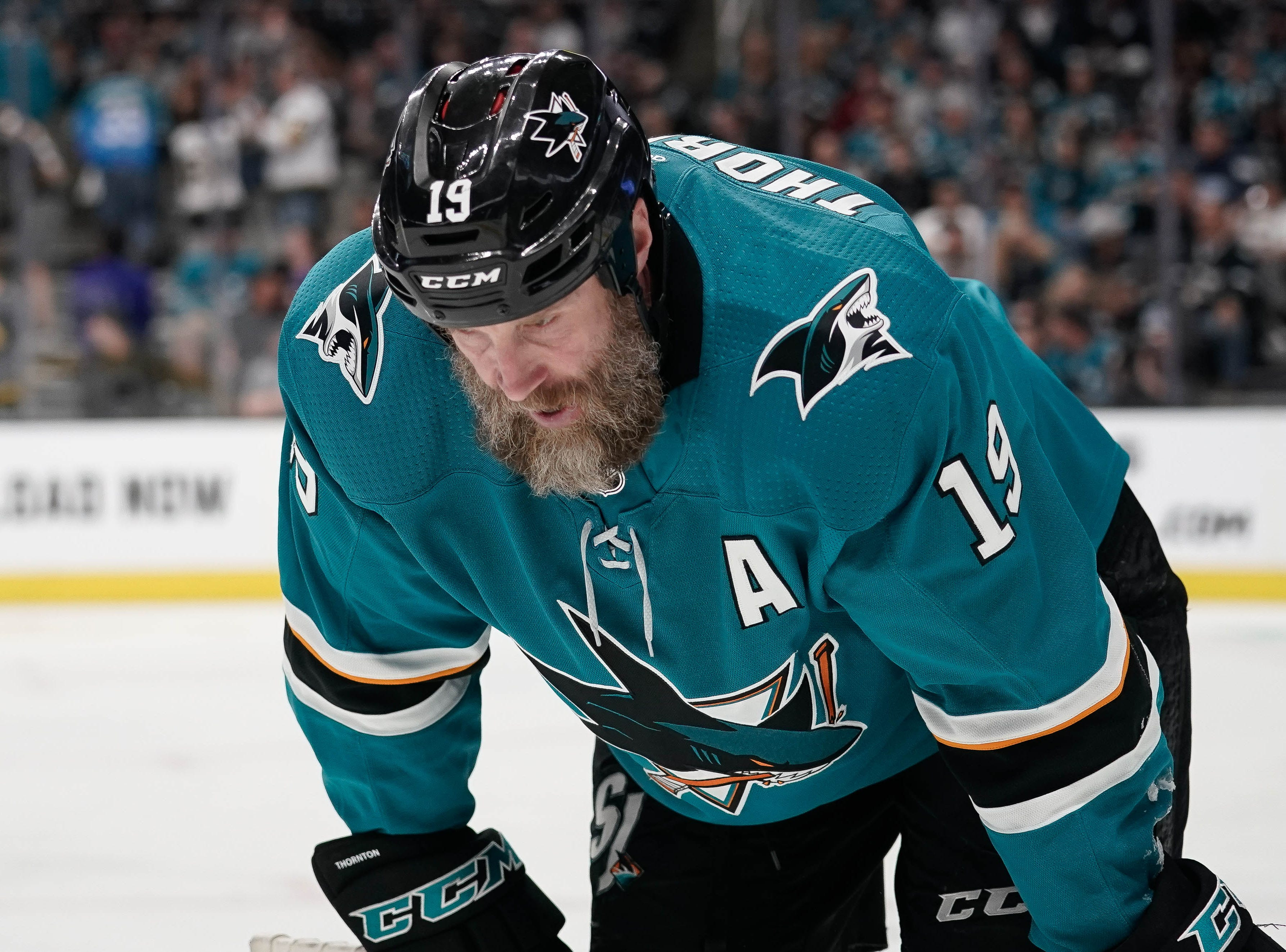 April 15: Sharks center Joe Thornton was suspended one playoff game for an illegal hit to the head of the Vegas Golden Knights' Tomas Nosek.