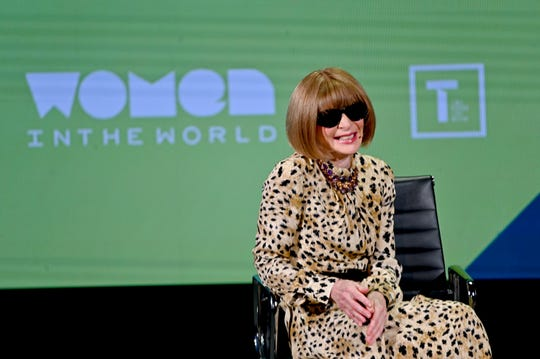 Anna Wintour at the 10th Anniversary Women In The World Summit at Lincoln Center on April 12, 2019 in New York City.