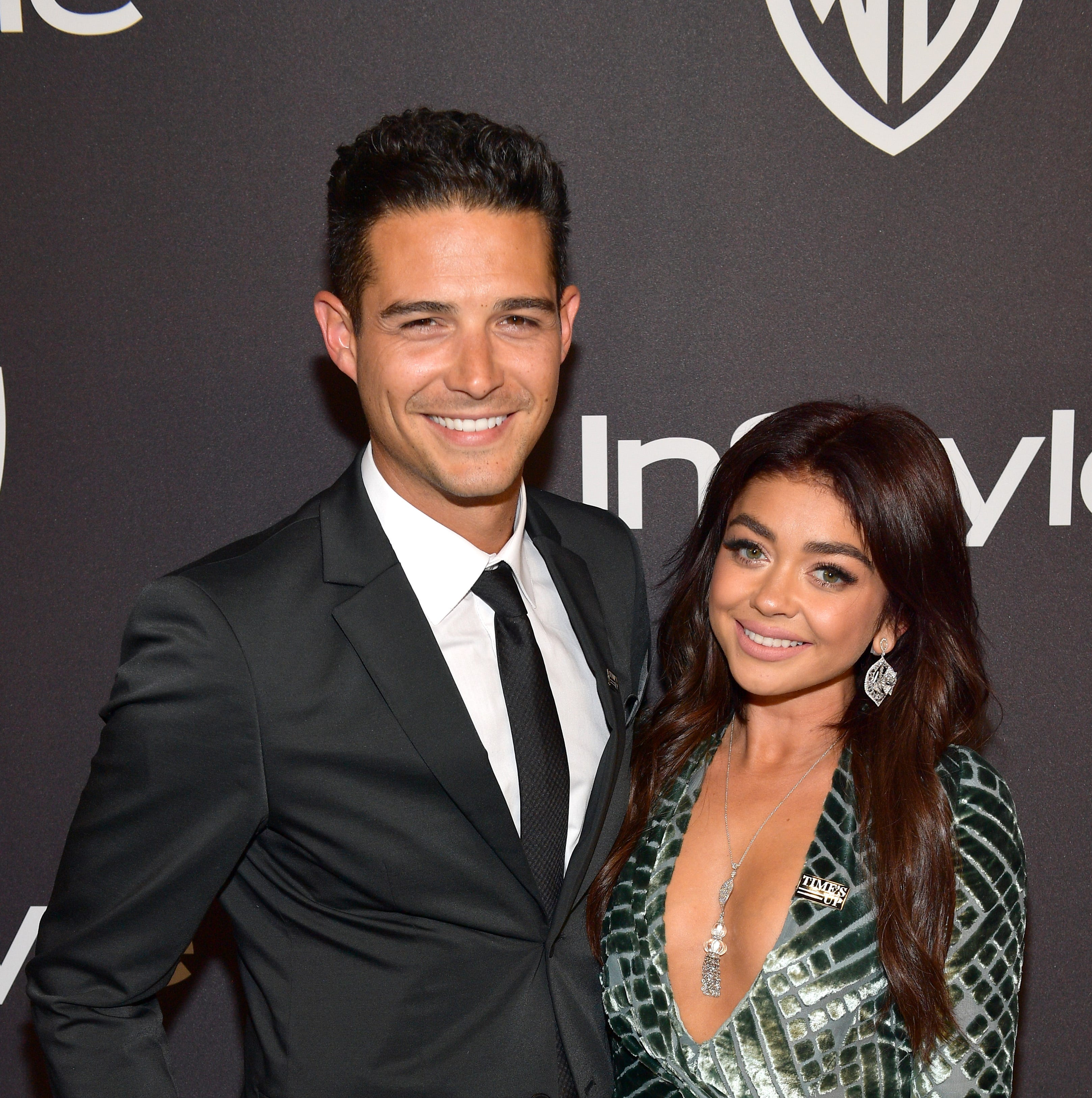 BEVERLY HILLS, CA - JANUARY 06: L-R Wells Adams and Sarah Hyland attend the 2019 InStyle and Warner Bros. 76th Annual Golden Globe Awards Post-Party at The Beverly Hilton Hotel on January 6, 2019 in Beverly Hills, California.  (Photo by Matt Winkelmeyer/Getty Images for InStyle) ORG XMIT: 775277744 ORIG FILE ID: 1078450064