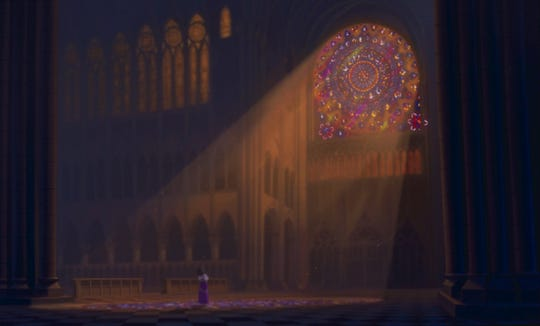 Animators beautifully recreated the cathedral's most iconic visuals.