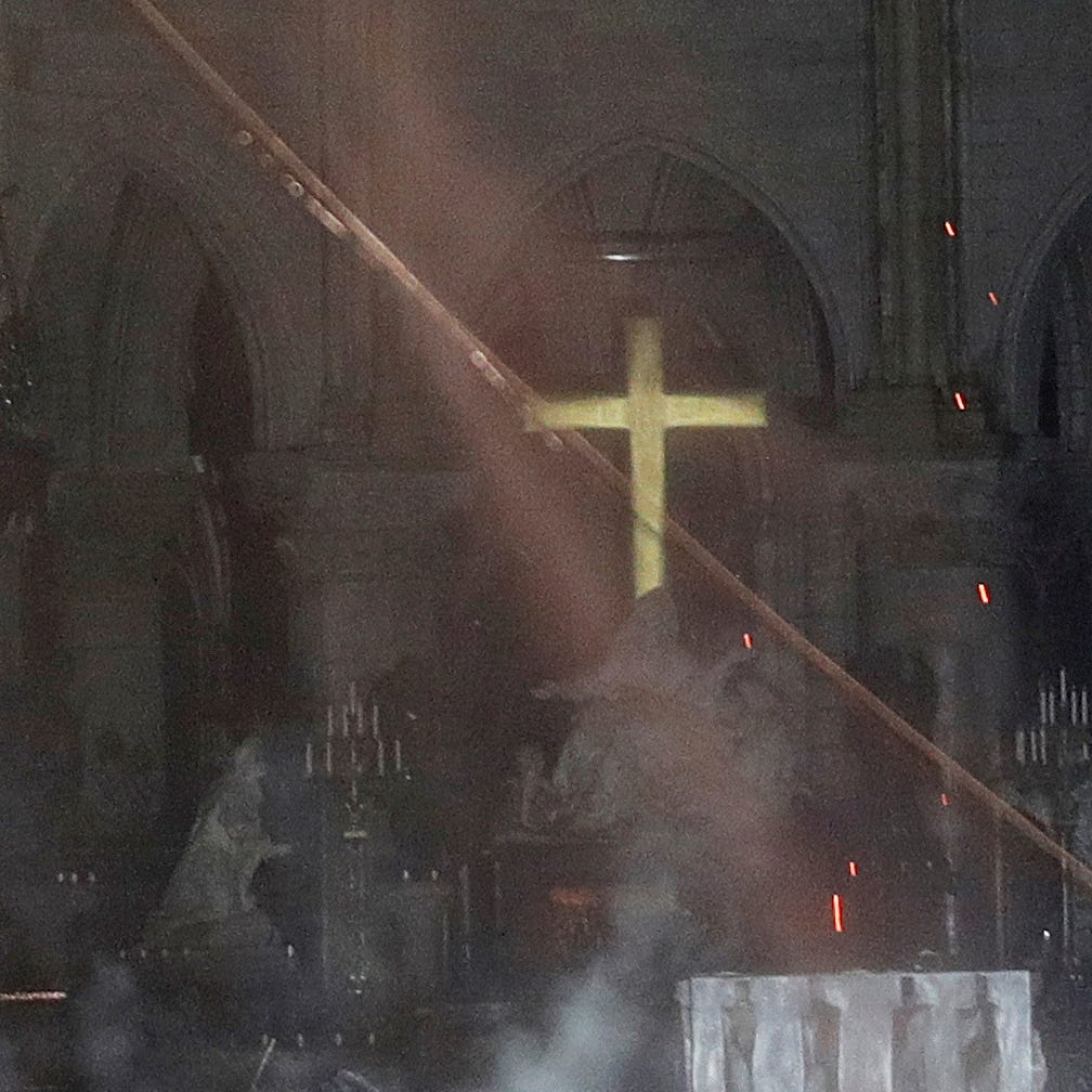 'The fire is out': Paris firefighters succeed after 12-hour battle to extinguish Notre Dame Cathedral blaze