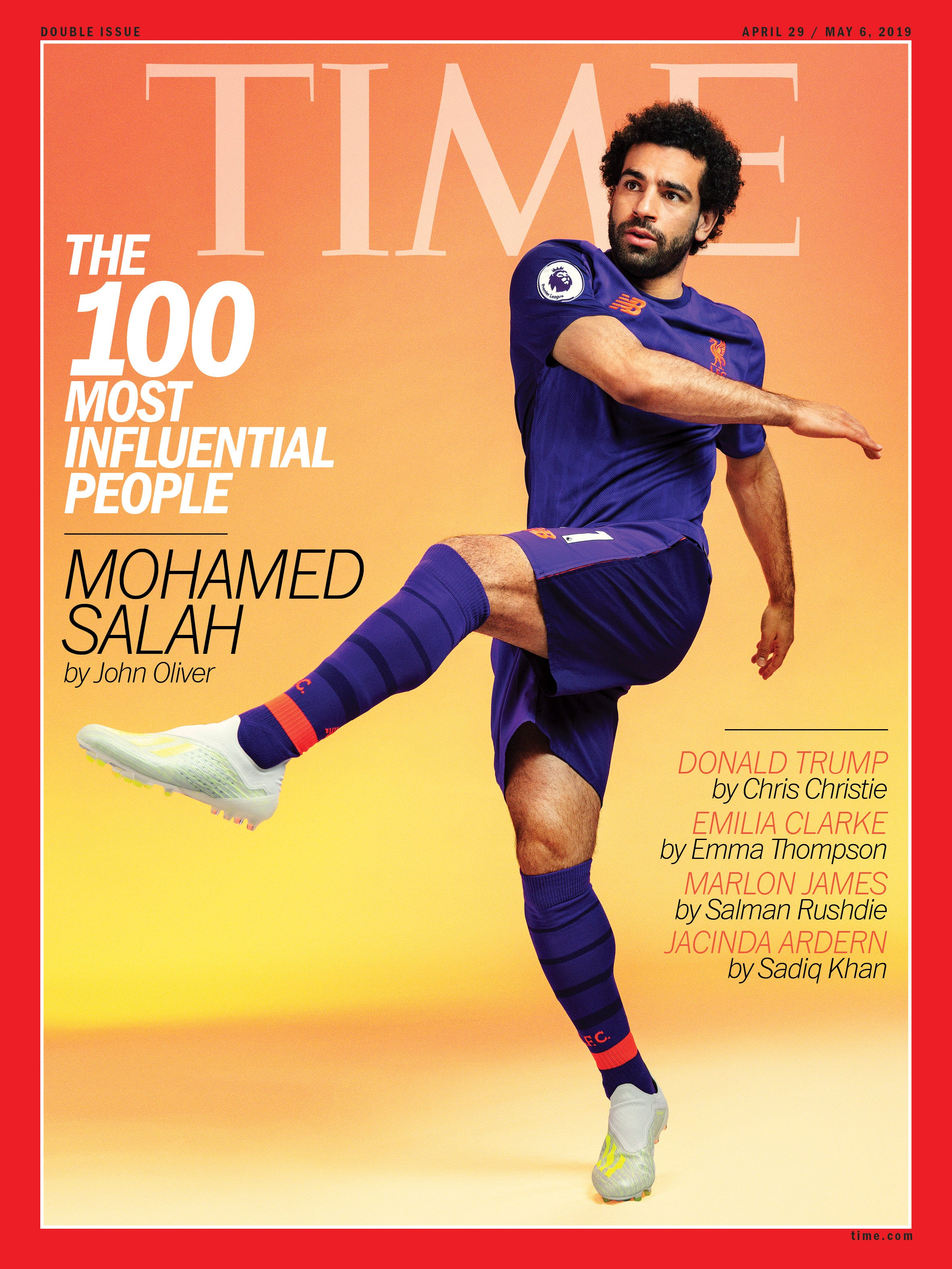 Professional soccer player Mohamed Salah