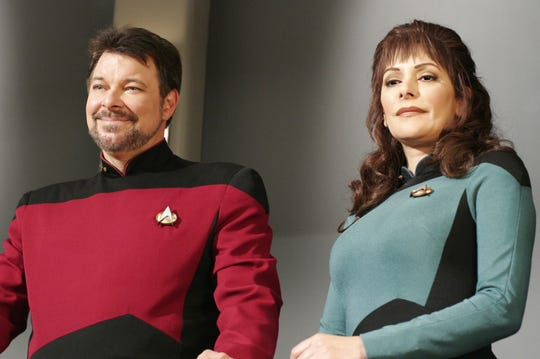 "Jonathan Frakes, left, played William T. Riker on ""Star Trek: The Next Generation."""
