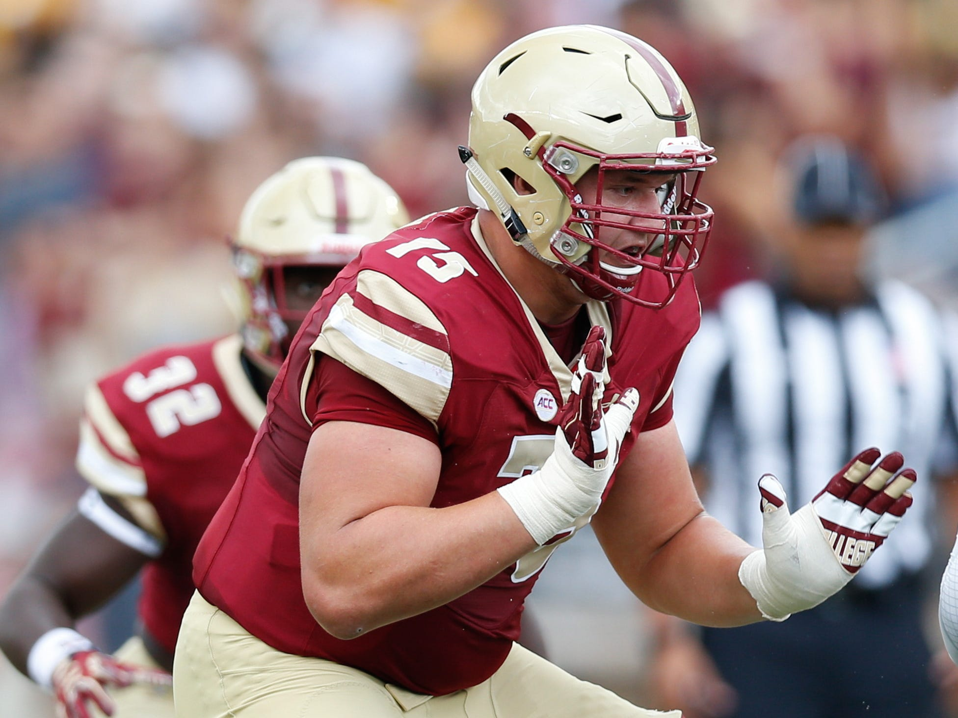 28. Chargers — Chris Lindstrom, OL, Boston College