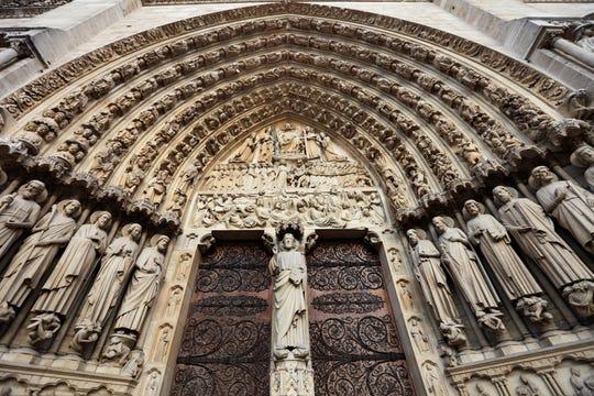A portal at Notre Dame.
