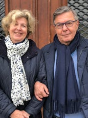 Michelle and Claude Massiani, who have lived around the corner from the Notre Dame cathedral for 45 years.