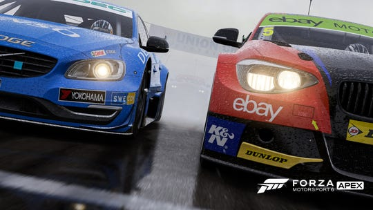 Microsoft Studios' robust driving game 'Forza Motorsport 6 Apex' for Windows 10 users includes more than 60 cars to unlock and race against others in several race types.