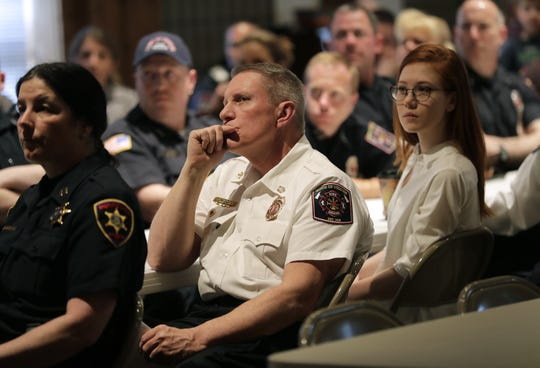 Several public safety departments, hospitals, tow truck companies and other private entities who helped in the rescue were recognized on Tuesday at a special event held at the Gloria Dei Lutheran Church in Neenah.