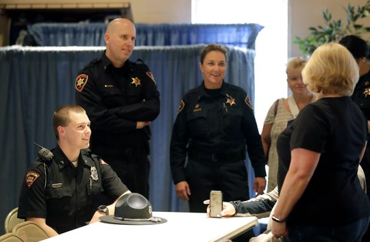 First responders who assisted in the 131-vehicle pileup in Neenah on Feb. 24 were recognized for their efforts at a special event on Tuesday at Gloria Dei Lutheran Church.
