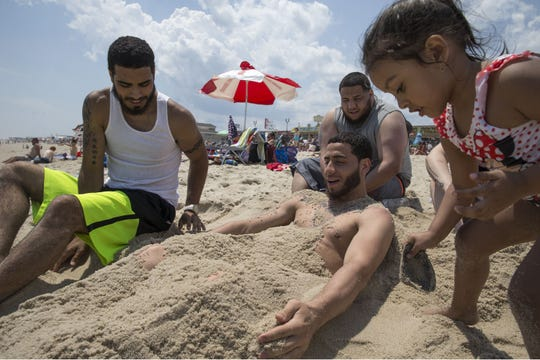 A scene from the Seaside Heights beach on Memorial Day Weekend 2018.