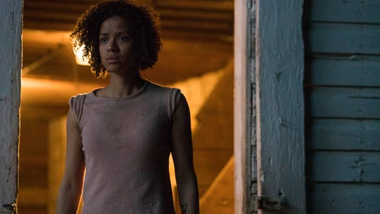 "Actress Gugu Mbatha-Raw in a scene from the film, ""Fast Color."""