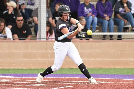 Wylie's Bailey Buck (4) has been an offensive catalyst for the team this season. The junior first baseman hit the game-ending home run against Wichita Falls Rider and had a double and RBI in the district-clinching win against Cooper last week.