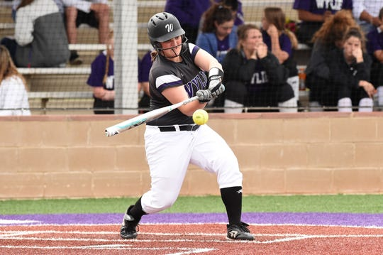 Wylie's Kaylee Beard (18) has 13 hits, five RBIs and three runs during the team's seven-game winning streak.