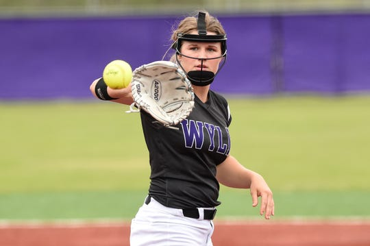 Wylie's turnaround this season was, in part, thanks to Kaylee Philipp (3) returning to health. The junior is the ace and will be counted on if the Lady Bulldogs are going to make a postseason run.