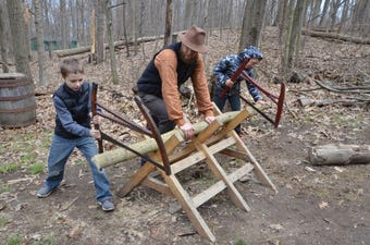 Living history program at the Battle Creek Public Schools Outdoor Education Center invites students to immerse themselves in pioneer life in 1838.