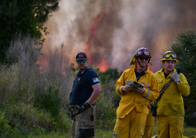 On April 17, 2019, a brush fire north of Fay Lake west of Aberdeen Ave. in Port St John had home owners concerned as deputies blocked off streets in the west end of Port St John. Brevard County Fire and Rescue were on scene as well as forestry workers. Helicopters dumped water on the fire.
