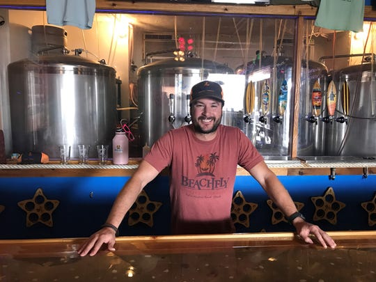 Zach Featherstone opened Beachfly Brewing Company in Indian Harbour Beach in November with his mother, Lisa Freismuth.
