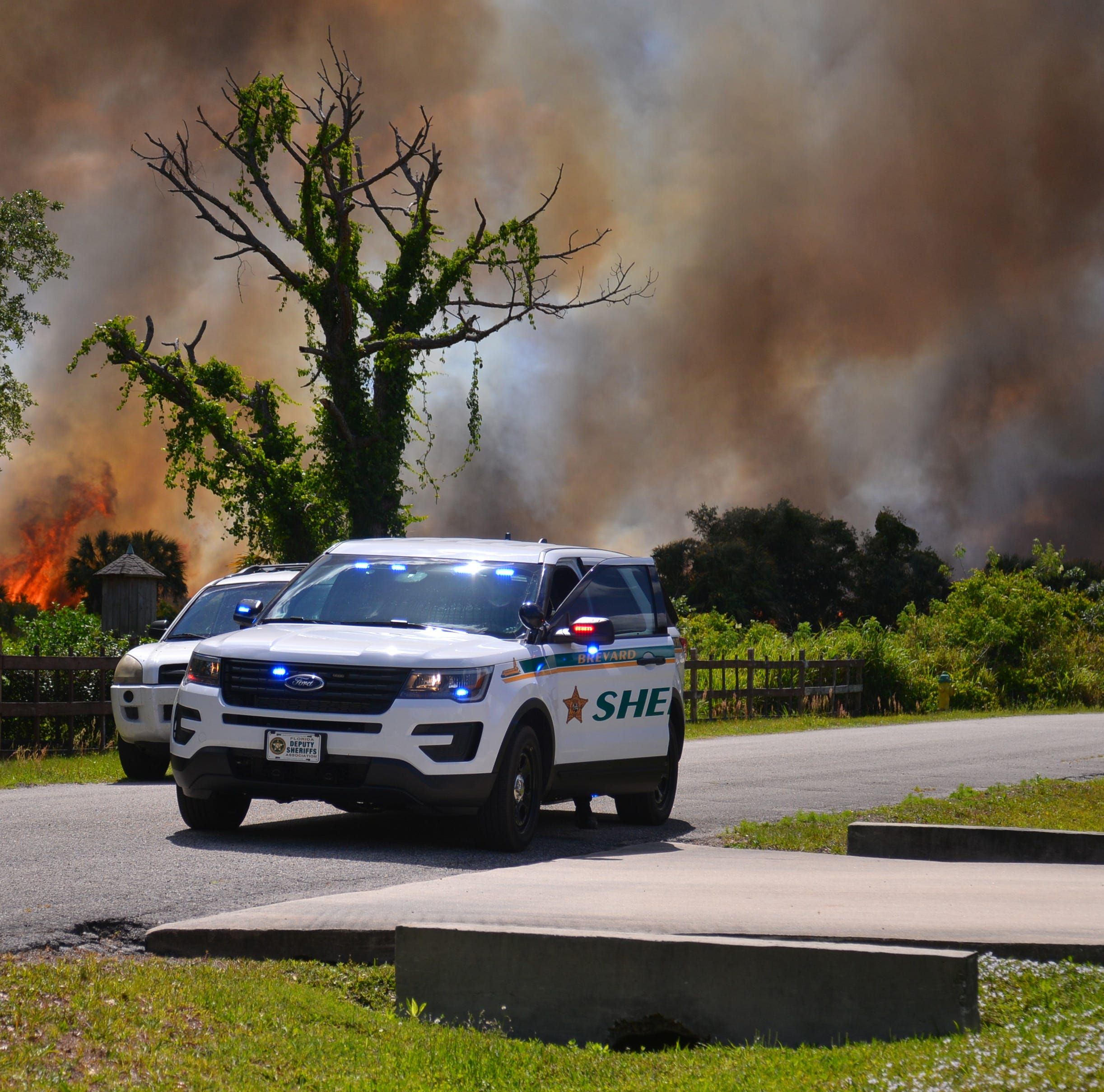 A brush fire north of Fay Lake west of Aberdeen Ave. in Port St John had home owners concerned as BCSO blocked off streets in the west end of Port St John. Brevard County Fire and Rescue were  on scene as well as forestry workers. Helicopters dumped water on the fire.