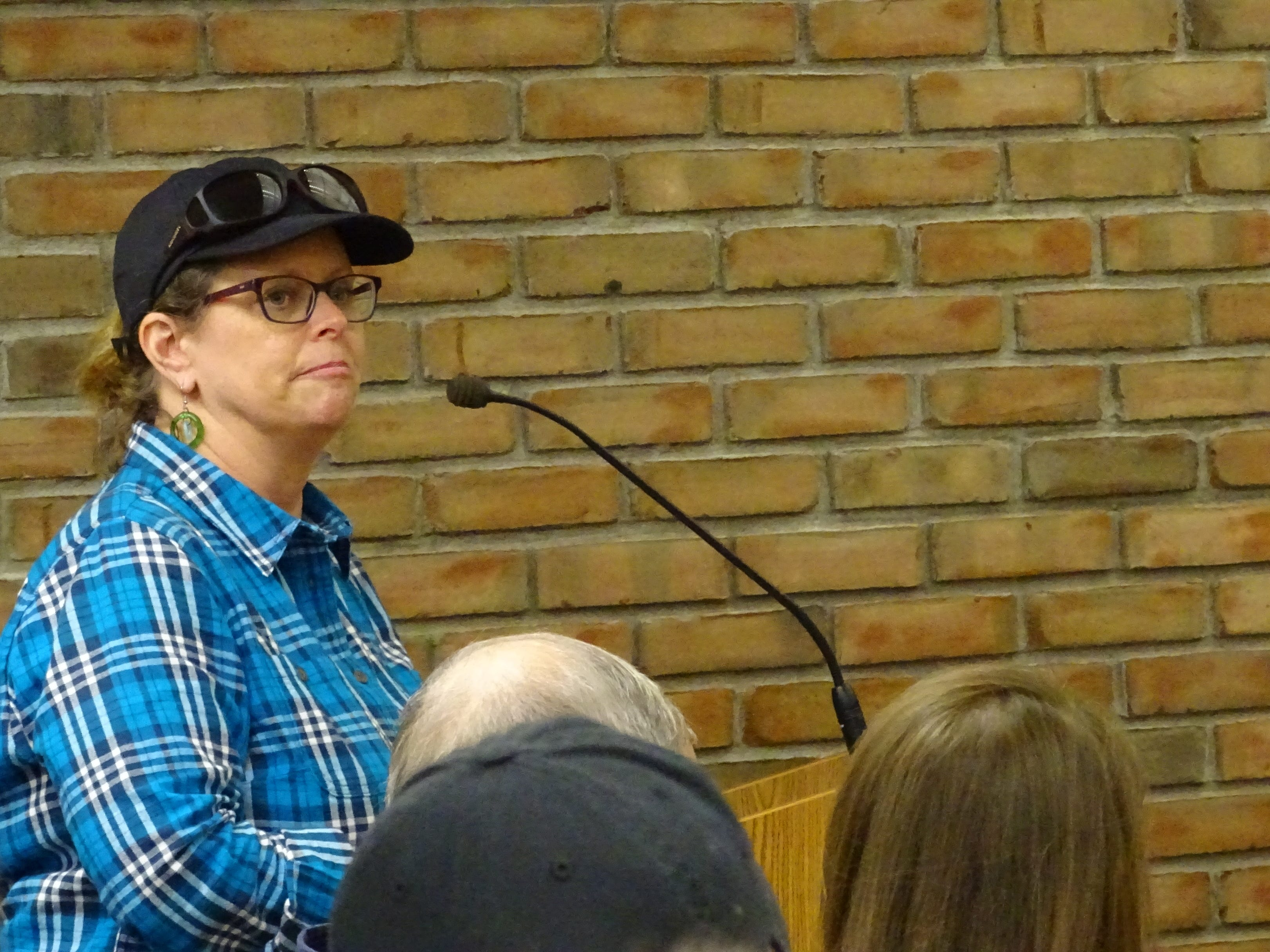 Northwest Ohio Director of Urban Forestry Stephanie Miller speaks to council after being recognized by Mayor Jeff Reser on Tuesday night.