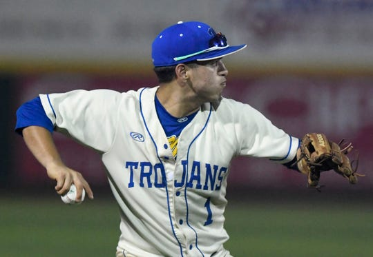 Carroll faces Moody in a baseball game, Tuesday, April 16, 2019, at the Cabaniss Baseball Field.
