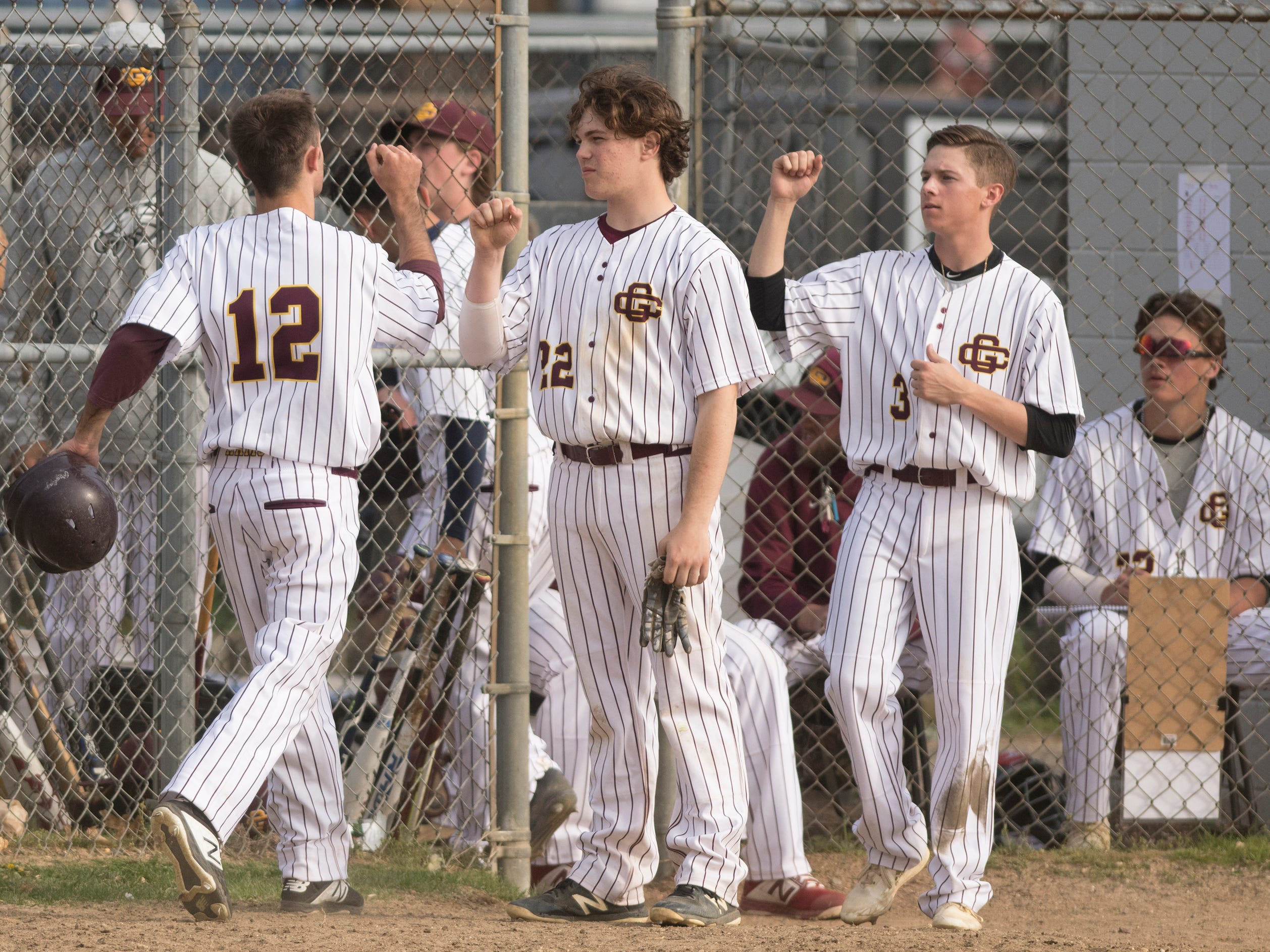 The Gloucester Catholic baseball team defeated Pennsville, 13- 0, at Joe Barth Field in Brooklawn on Wednesday, April 17, 2019.