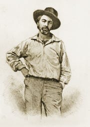 Walt Whitman's 200th birthday is cause for celebration throughout the tri-state area. Walt Whitman (1819-1892) is a  1854 steel engraving photograph by Samuel Hollyer of a lost Daguerrotype by Gabriel Harrison.