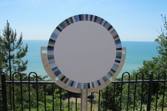 Spencer Finch's prototype color wheel for the RiverLink Ferry project, an artistic commission that celebrate's Walt Whitman's love of the Delaware River and the natural world. 'When You Look on the River and Sky, 2019' will take place during River Link Ferry crossings of the Delaware River all summer.