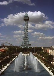 UNDATED: Kings Islands' Royal Fountain and Eiffel Tower Replica. Enquirer File Photo scanned June 20, 2011
