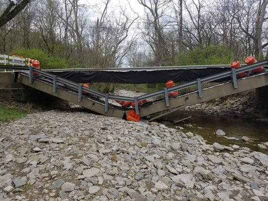 Bridge on Price Road in Miami Township collapsed over the weekend of April 13-14.