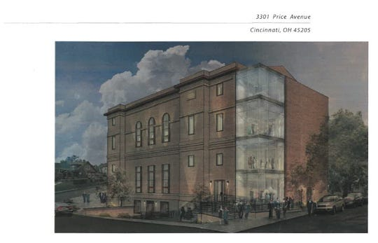 An artist's rendering of the Masonic Lodge being remodeled in East Price Hill
