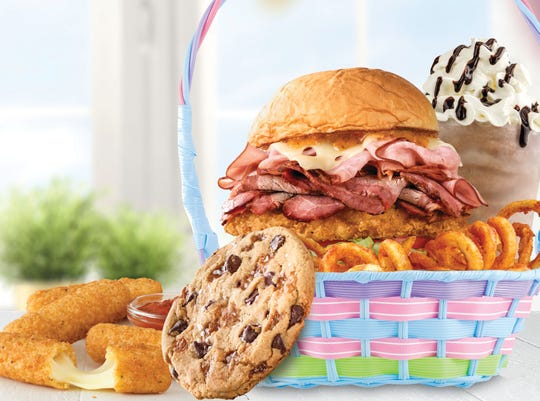 Lucky you, Cincinnati. Arby's is testing a new Easter meal here. And it's huge