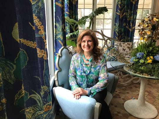 Designer Julie Liepold in Grace's House, a designer showcase in Plainfield
