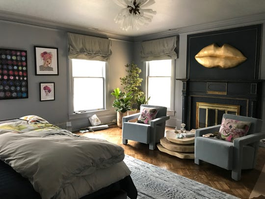 The master bedroom in Grace's House a designer showcase in Plainfield