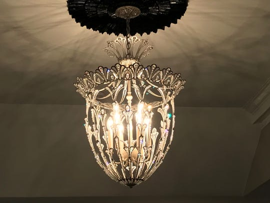 Foyer lamp in Grace's House, a designer showcase
