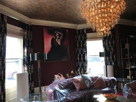 Living room in Grace's House, a designer showcase in Plainfield