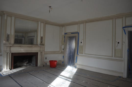 The dining room at the mansion at 950 Hillside Ave., Plainfield before it was renovated.
