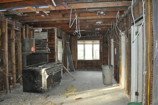 The kitchen in the mansion at 950 Hillside Ave., Plainfield before it was renovated.