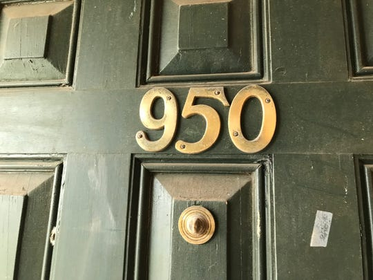 The house numbers on the front door at Grace's House, a designer showcase in Plainfield