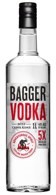 Bagger Vodka was recently released by Cedar Ridge and will hit store shelves on April 18.