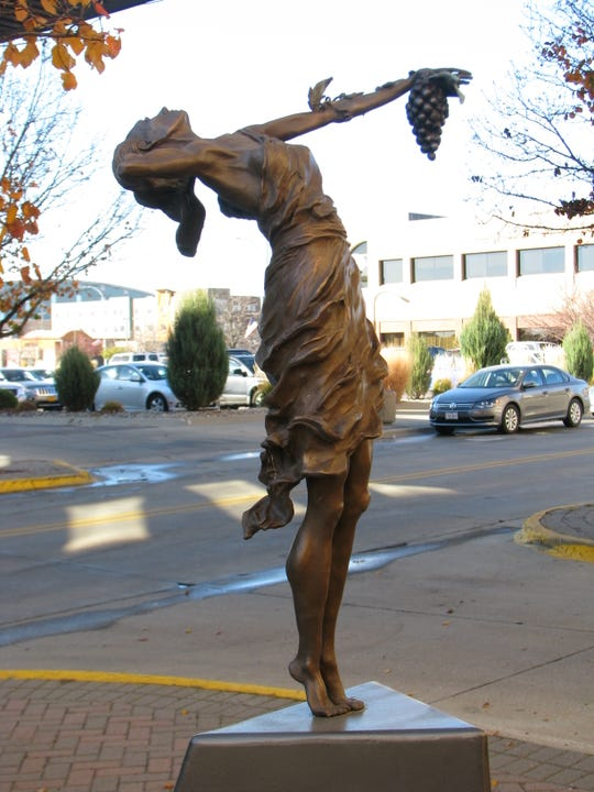 """The """"Goddess of Grapes"""" statue was publicly displayed in Sioux City prior to its theft in June 2017."""