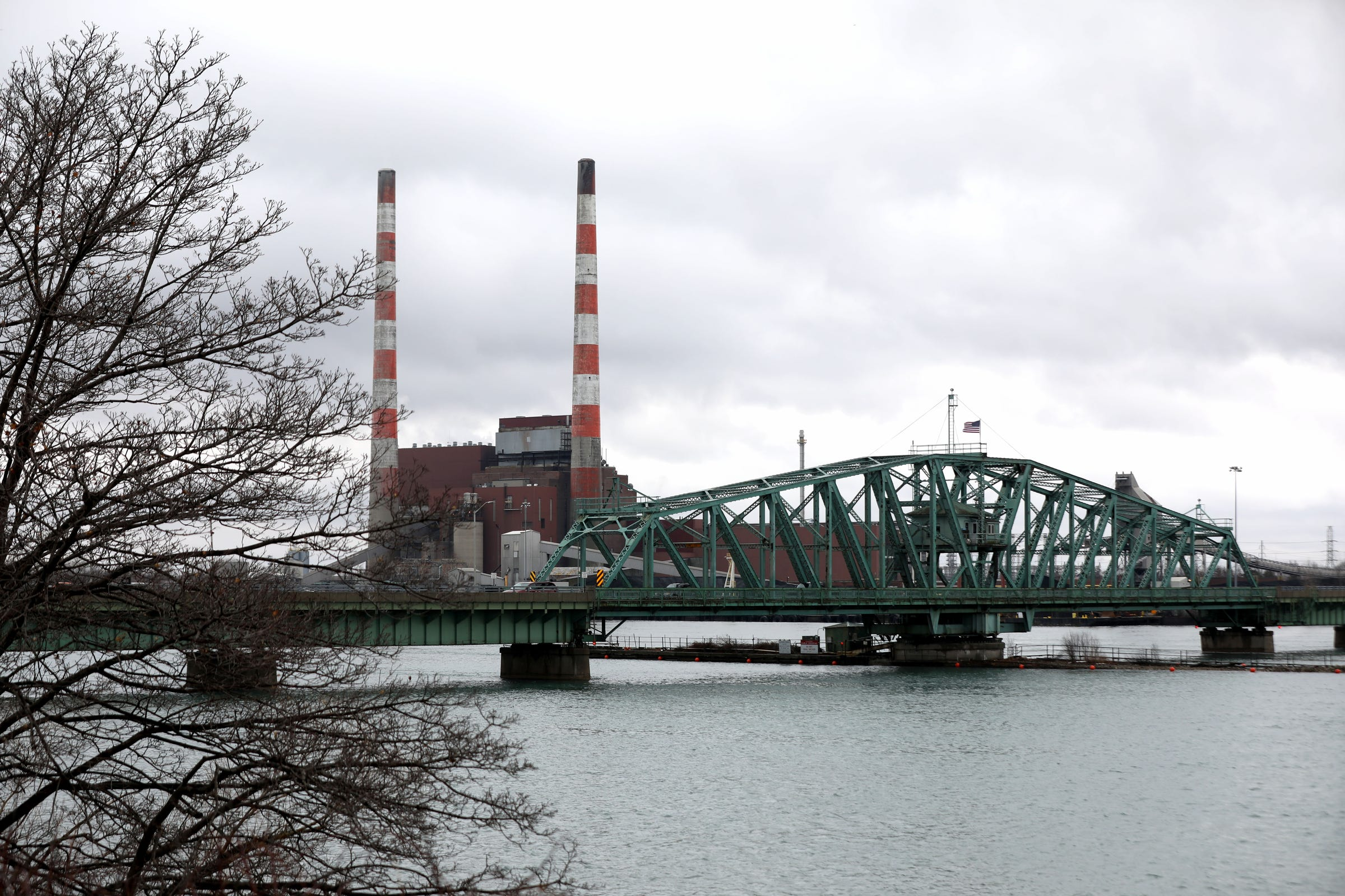 The Grosse Ile Parkway Bridge over the Trenton Channel as seen in March. This bridge was built in 1932 and reconstructed in 2007. The bridge is in serious condition and vehicle weight limits have been reduced to a total of 26 tons. Wayne County officials say construction on the bridge will begin in the fall.