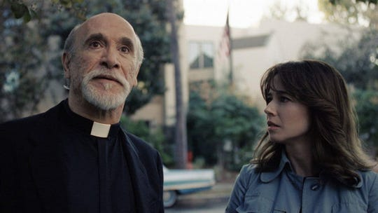 "Tony Amendola and Linda Cardellini in ""The Curse of La Llorona."""