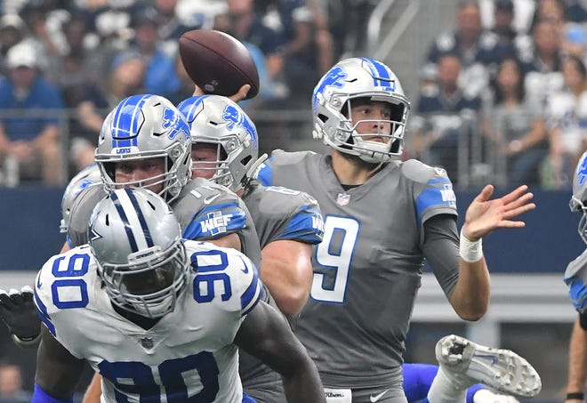 Lions quarterback Matthew Stafford is missing the start of the team's offseason program as his wife, Kelly, undergoes surgery to remove a tumor on her brain.