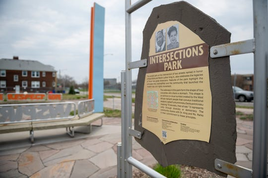 Intersections park at 12th and Martin Luther King Dr., in the Corktown neighborhood of Detroit.