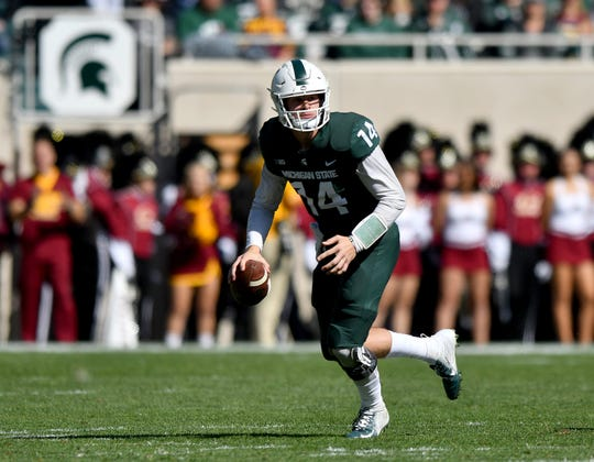 After Saturday's spring game, Brian Lewerke admitted he didn't handle the difficulty of Michigan State's 2018 season well.