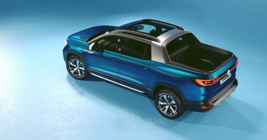 Volkswagen's concept pickup truck the Tarok was unveiled at the New York Auto Show.
