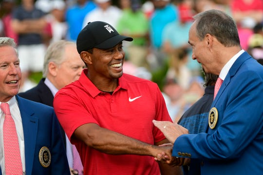 The fifth green jacket Tiger Woods won Sunday at the Masters was more about the past, best measured by a powerful celebration and enormous popularity than by any ripple effect it might have in golf.